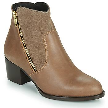 Pantofi Femei Botine So Size FELICIO Camel