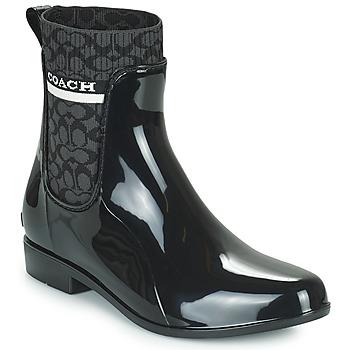 Pantofi Femei Cizme de cauciuc Coach RIVINGTON RAIN BOOTIE Negru