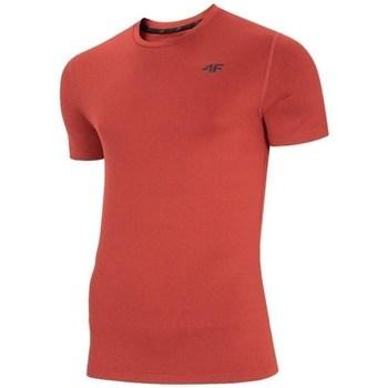Îmbracaminte Bărbați Tricouri mânecă scurtă 4F TSMF003 Roșii