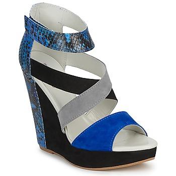 Pantofi Femei Sandale și Sandale cu talpă  joasă Serafini CARRY Negru / Albastru / Gri