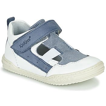 Pantofi Băieți Sandale  Kickers JASON Alb / Albastru