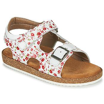 Pantofi Fete Sandale  Kickers FUNKYO Alb