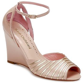 Pantofi Femei Sandale și Sandale cu talpă  joasă Sarah Chofakian LA PARADE Roz / Auriu