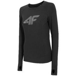 Îmbracaminte Femei Tricouri cu mânecă lungă  4F TSDLF001 Negre