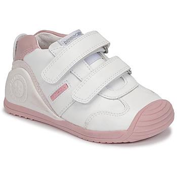 Pantofi Fete Pantofi sport Casual Biomecanics BIOGATEO SPORT Alb / Roz