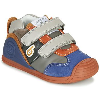 Pantofi Băieți Pantofi sport Casual Biomecanics ZAPATO SPORT VELCRO Gri / Albastru / Portocaliu