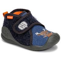Pantofi Copii Papuci de casă Biomecanics ZAPATILLA TWIN Gri / Albastru