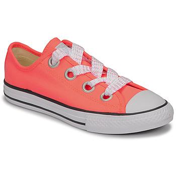 Pantofi Fete Pantofi sport Casual Converse CTAS BIG EYELET OX LAVA GLOW/WHITE/BLACK Roz