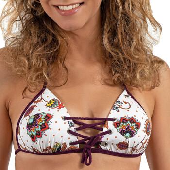 Îmbracaminte Femei Costume de baie separabile  LPB Woman 005 / HAUT COOL Alb