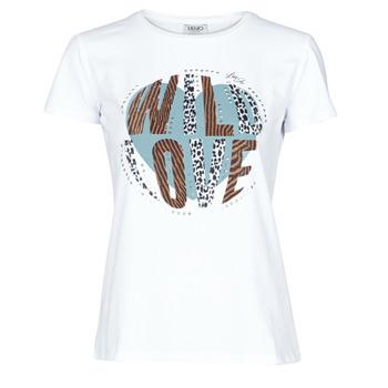 Îmbracaminte Femei Tricouri mânecă scurtă Liu Jo WF0098-J5003 Alb