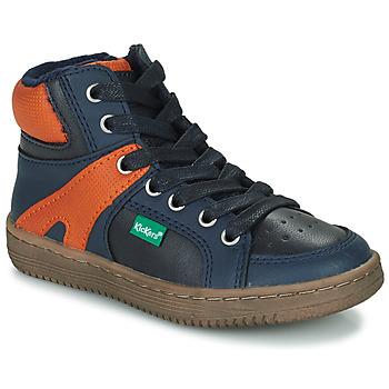 Pantofi Băieți Pantofi sport stil gheata Kickers Lowell Bleumarin / Portocaliu
