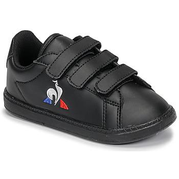 Pantofi Copii Pantofi sport Casual Le Coq Sportif COURTSET INF Negru