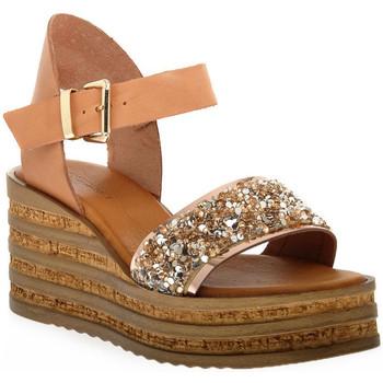 Pantofi Femei Sandale  Sono Italiana VACCHETTA GLITTER Grigio