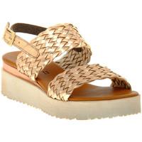 Pantofi Femei Sandale  Sono Italiana LAMINATO RAME Marrone