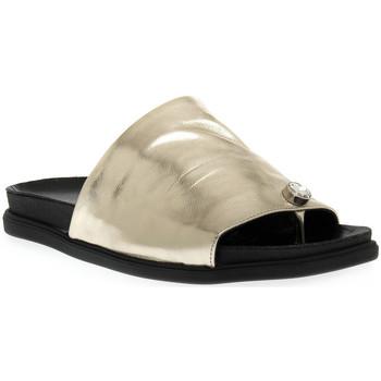 Pantofi Femei Papuci de vară Sono Italiana LAMINATO PLATINO Grigio