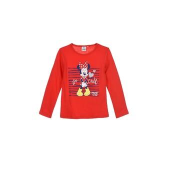 Îmbracaminte Fete Tricouri cu mânecă lungă  TEAM HEROES  MINNIE Roșu