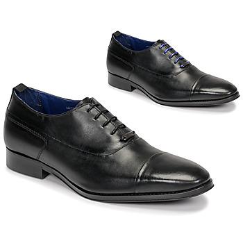 Pantofi Bărbați Pantofi Oxford Azzaro LITCHI Negru