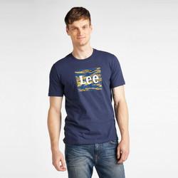 Îmbracaminte Bărbați Tricouri mânecă scurtă Lee T-shirt  Camo Package Dark Navy bleu marine/jaune/blanc