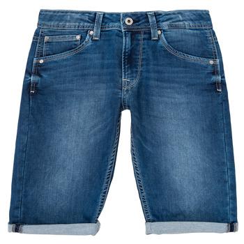 Îmbracaminte Băieți Pantaloni scurti și Bermuda Pepe jeans CASHED SHORT Albastru