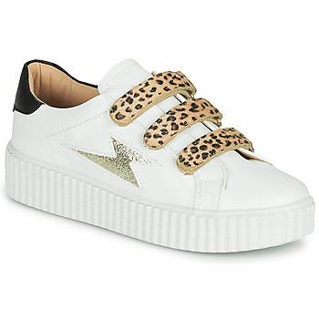 Pantofi Femei Pantofi sport Casual Vanessa Wu BASKETS À SCRATCHS ANIMALIER Alb / Leopard