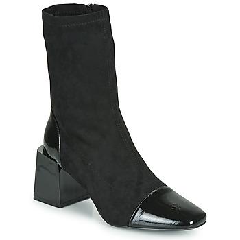 Pantofi Femei Botine Vanessa Wu BOTTINES CHAUSSETTES À TALON BLOC Negru
