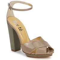 Pantofi Femei Sandale  Keyté KRISTAL-26722-TAUPE-FLY-3 Taupe