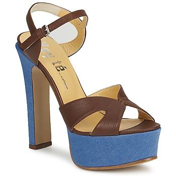 Pantofi Femei Sandale și Sandale cu talpă  joasă Keyté CUBA-LUX-MARRONE-FLY-9  marrone