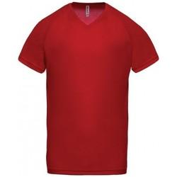 Îmbracaminte Bărbați Tricouri mânecă scurtă Proact T-Shirt Col V  Sport rouge