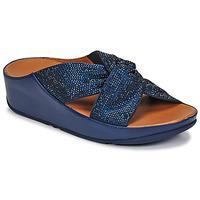 Pantofi Femei Sandale  FitFlop TWISS CRYSTAL SLIDE Albastru