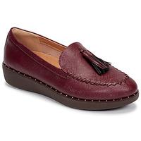 Pantofi Femei Mocasini FitFlop PETRINA PATENT LOAFERS Roșu