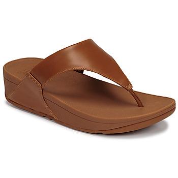 Pantofi Femei Sandale  FitFlop LULU LEATHER TOEPOST Caramel