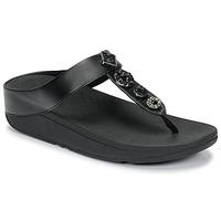 Pantofi Femei  Flip-Flops FitFlop FINO CIRCLE TOE-THONGS Negru
