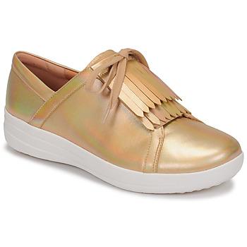 Pantofi Femei Pantofi sport Casual FitFlop F-SPORTY II LACE UP FRINGE SNEAKERS-IRIDESCENT LTR Auriu