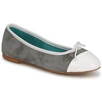 Pantofi Femei Balerin și Balerini cu curea Les Lolitas FELL Bianco-grigio
