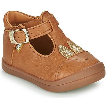 Pantofi Fete Balerin și Balerini cu curea GBB ANINA Coniac
