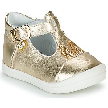 Pantofi Fete Balerin și Balerini cu curea GBB ANINA Auriu