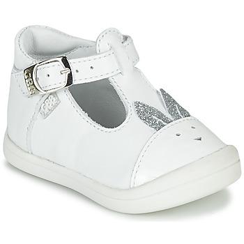 Pantofi Fete Balerin și Balerini cu curea GBB ANINA Alb