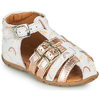 Pantofi Fete Sandale  GBB RIVIERA Alb
