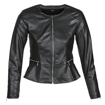 Îmbracaminte Femei Jachete din piele și material sintetic Only ONLJENNY Negru