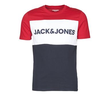 Îmbracaminte Bărbați Tricouri mânecă scurtă Jack & Jones JJELOGO BLOCKING Roșu