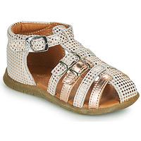 Pantofi Fete Sandale  GBB PERLE Alb / Roz / Gold