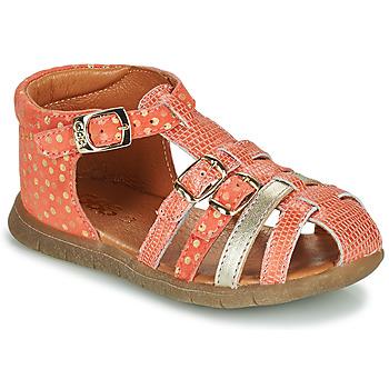 Pantofi Fete Sandale  GBB PERLE Corai / Auriu