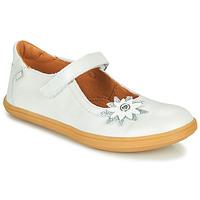Pantofi Fete Balerin și Balerini cu curea GBB FANETTA Alb