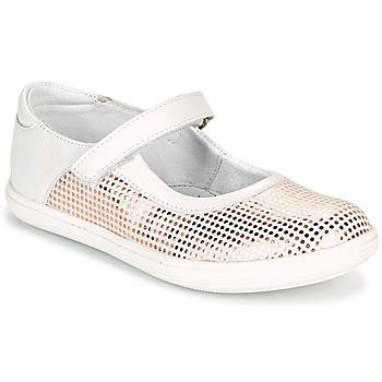 Pantofi Fete Balerin și Balerini cu curea GBB PLACIDA Alb