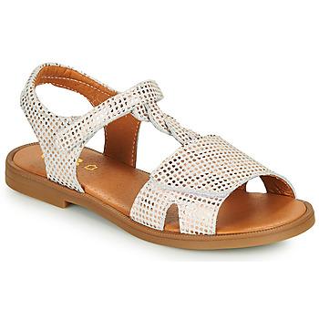 Pantofi Fete Sandale  GBB FARENA Alb / Roz / Gold