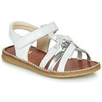 Pantofi Fete Sandale  GBB SUMY Alb / Argintiu