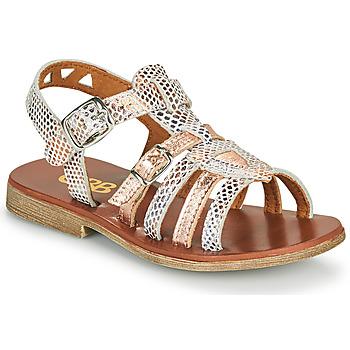Pantofi Fete Sandale  GBB FANNI Alb / Roz / Gold