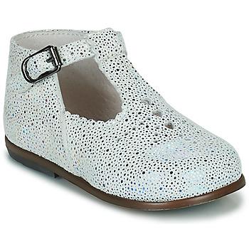 Pantofi Fete Balerin și Balerini cu curea Little Mary FLORIANE Alb