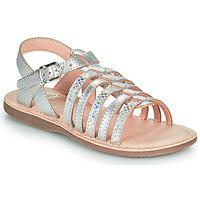 Pantofi Fete Sandale  Little Mary BARBADE Argintiu