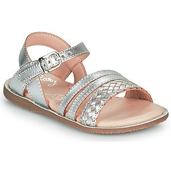 Pantofi Fete Sandale  Little Mary LIME Argintiu